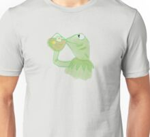 Kermit sipping Tea meme Unisex T-Shirt
