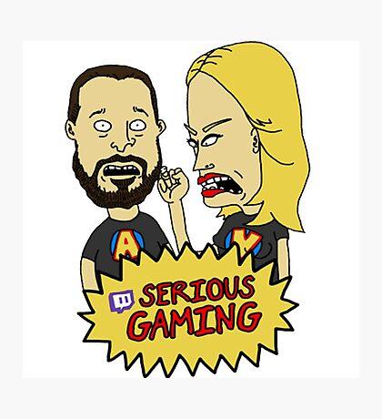 Serious Gaming Retro Tv Photographic Print