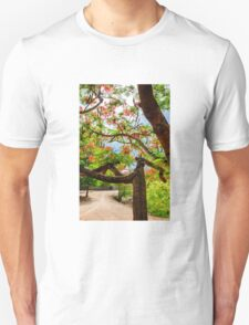 Royal Poinciana or flame tree blossom in Thailand Unisex T-Shirt