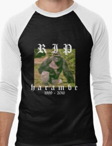 RIP HARAMBE Men's Baseball ¾ T-Shirt