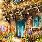 Hollyhock Cottage by Rasendyll