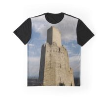 Majestic medieval castle ruins on the top of the hill, Ortenbourg, Alsace, France Graphic T-Shirt