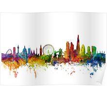 London England Skyline Poster
