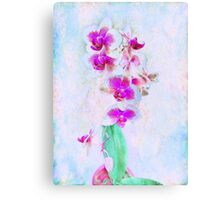 At Last Orchid Abstract Canvas Print