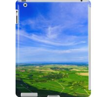 Majestic overview to the beautiful valley from the top of the hill, Alsace, France iPad Case/Skin