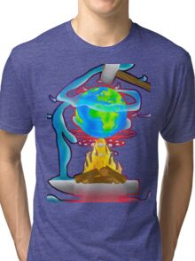 Wold on Fire Tri-blend T-Shirt