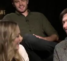 The 5th Wave Cast Laughing Sticker