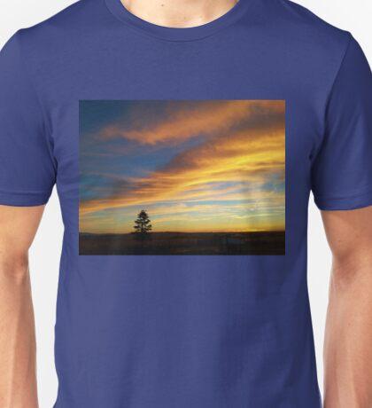 Lone Tree at Sunset Unisex T-Shirt