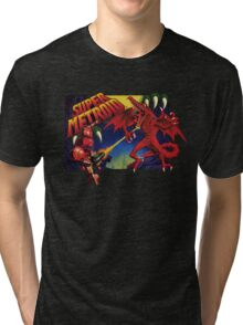 Super Metroid Box Art Tri-blend T-Shirt