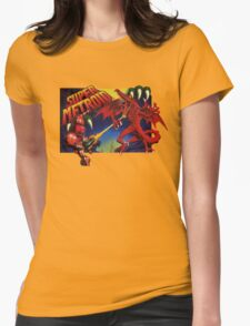Super Metroid Box Art Womens Fitted T-Shirt
