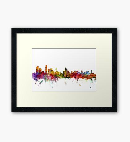 Liverpool England Skyline Framed Print