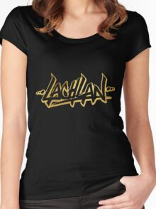 Lachlan | LIMITED EDITION! | GOLD FOIL SWEATSHIRT | NEW! | HIGH QUALITY! Women's Fitted Scoop T-Shirt