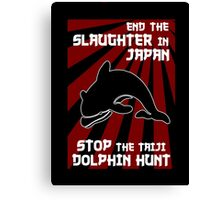 Protest the Taiji Dolphin Hunt 3 Canvas Print