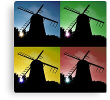 Windmill Silhouettes Canvas Print