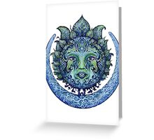 The sun and moon Greeting Card