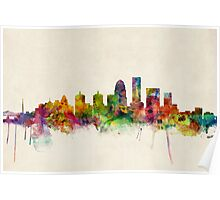 Louisville Kentucky City Skyline Poster