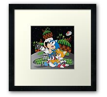 Sonic and Tails  Framed Print