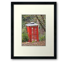 The Big Red Phone Box Framed Print