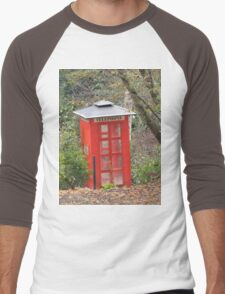 The Big Red Phone Box Men's Baseball ¾ T-Shirt
