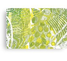 Yellow and Green Design Canvas Print