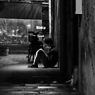Fremantle  W.A. After Dark - Sheltered from the Rain by Sandra Chung