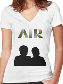 Air - French Band - Talkie Walkie Women's Fitted V-Neck T-Shirt
