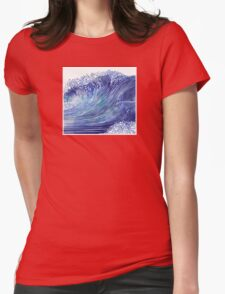 Pacific Waves Womens Fitted T-Shirt