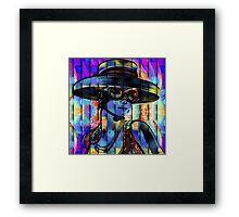 La Chica Del Sombrero Framed Print