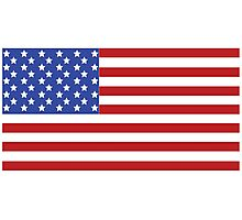 USA Flag Photographic Print