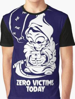 zero victims today grim reaper death are take vacation in summer Graphic T-Shirt