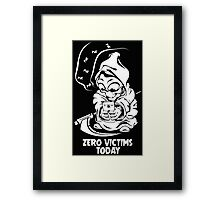 zero victims today grim reaper death are take vacation in summer Framed Print
