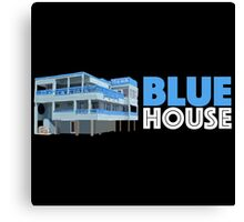 Blue House Geofilter Canvas Print