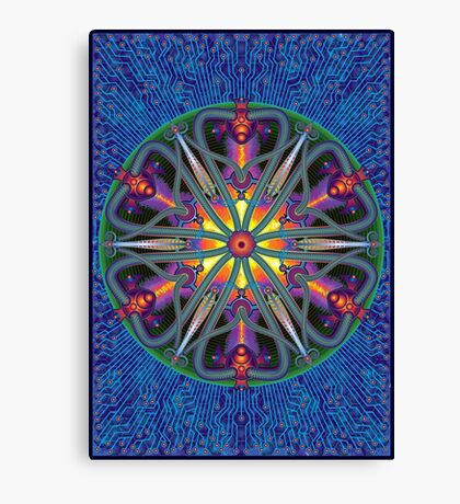 Unique abstract poster designs-Magma Clover Canvas Print