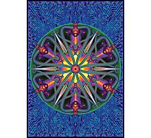 Unique abstract poster designs-Magma Clover Photographic Print