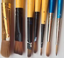 Paintbrushes by Lucy Wright