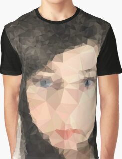 Woman's face,Polygonal art,abstract,modern,contemporary Graphic T-Shirt