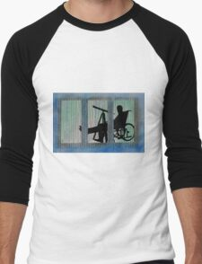 Homage to Alfred Hitchcock Rear Window Impression Men's Baseball ¾ T-Shirt