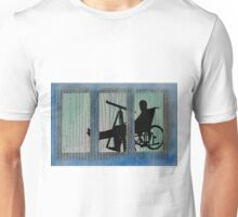 Homage to Alfred Hitchcock Rear Window Impression Unisex T-Shirt