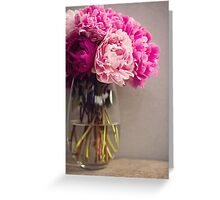 Pink Peony in a vase Greeting Card