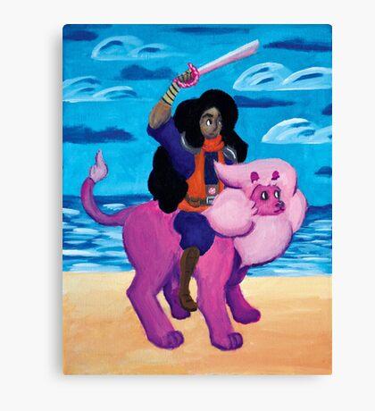Stevonnie's fight Canvas Print