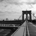 Black White New York Brooklyn Bridge nr 2 by silvianeto