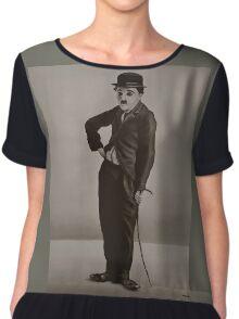 Charlie Chaplin Painting Chiffon Top