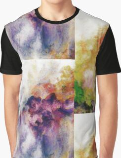 Colorful Abstract Flowers Graphic T-Shirt