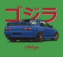 Nissan Skyline GTR R32 (blue) Baby Tee
