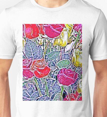 Contours of Roses Unisex T-Shirt