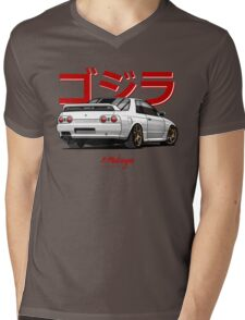 Nissan Skyline GTR R32 (white) Mens V-Neck T-Shirt