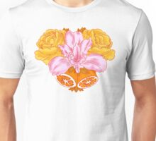 Iris, Roses, and Citrus Bouquet Unisex T-Shirt