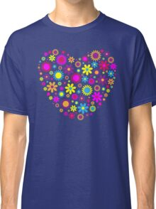 Pretty Floral Heart Classic T-Shirt