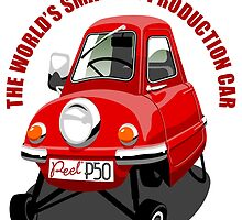 Peel P50 caricature by car2oonz