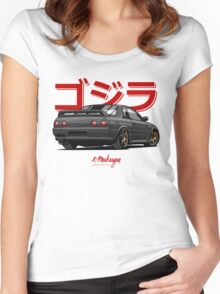 Nissan Skyline GTR R32 (black) Women's Fitted Scoop T-Shirt